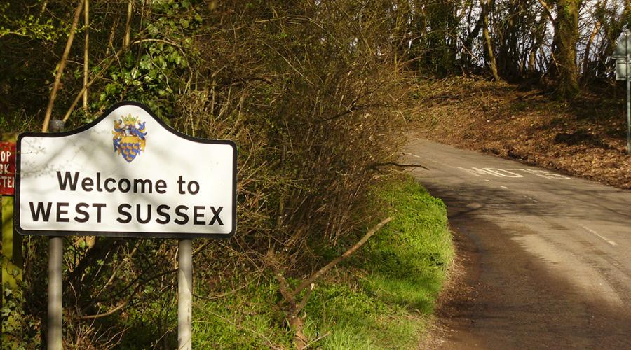 West Sussex Border Sign