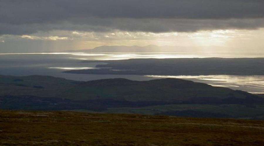 Solway Firth from Cairnsmore of Fleet
