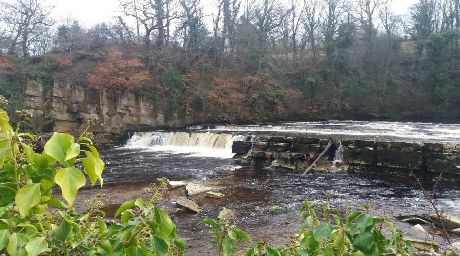 River Swale waterfalls by Richmond Castle