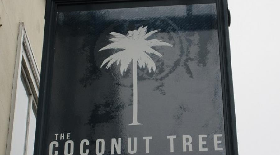 The Coconut Tree pub sign