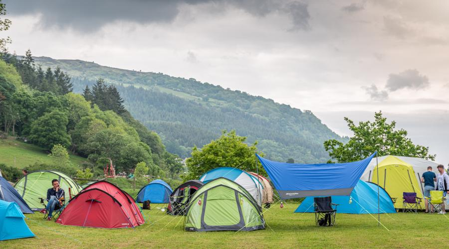 BSC tents in campsite