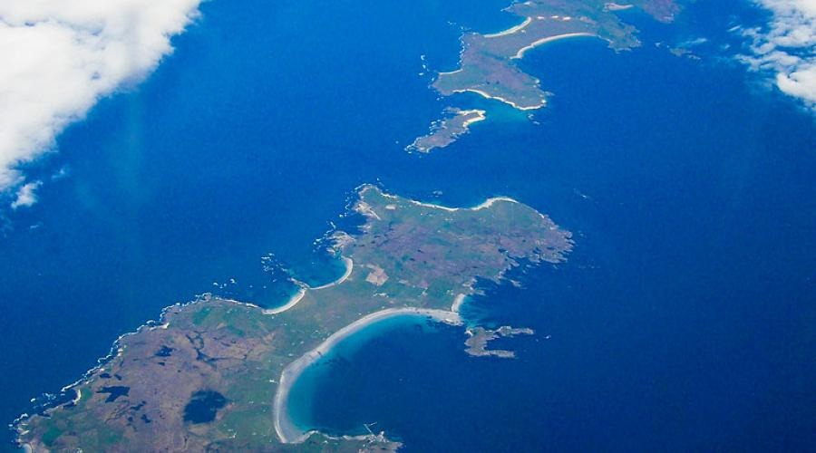 Coll and Tiree from the air