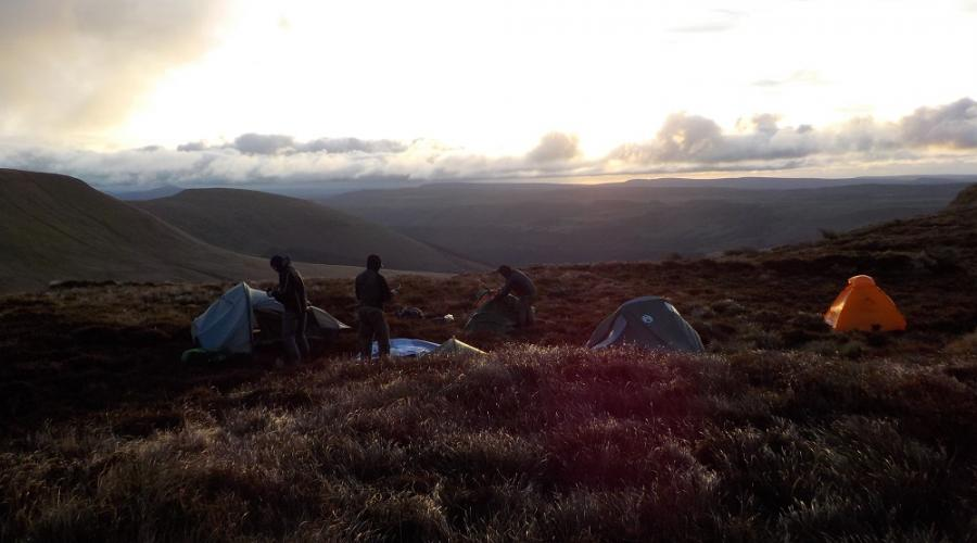 Brecon Beacons Wild Camp Early Camp area PFR