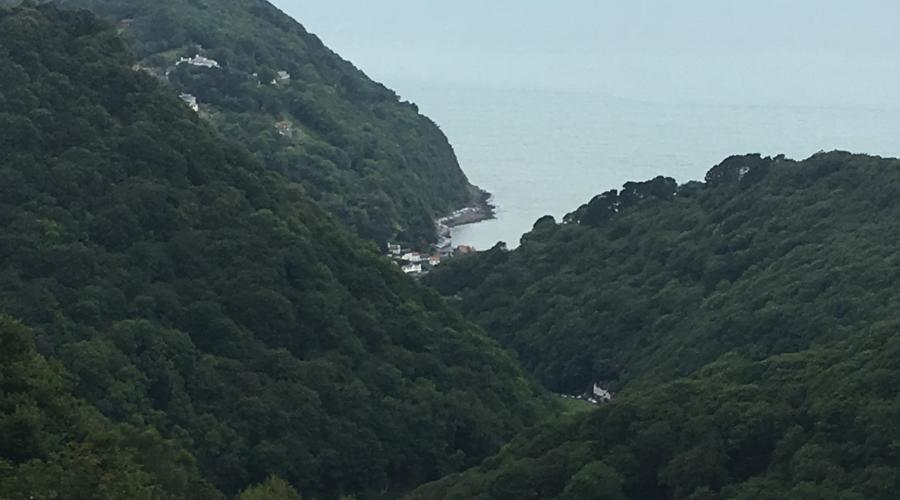 Distance view of Lynmouth