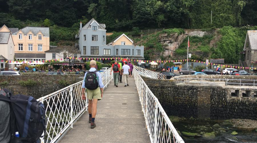 Bridge over the Harbour at Lynmouth