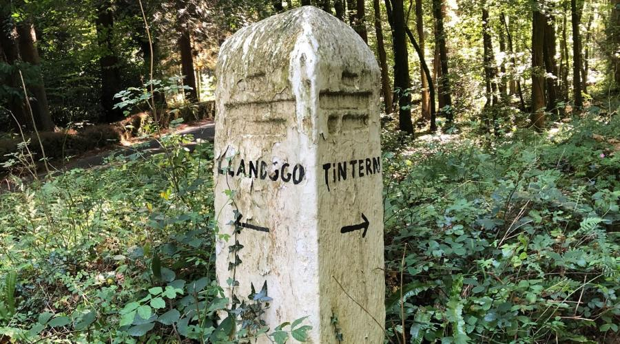 Llandogo & Tintern Sign