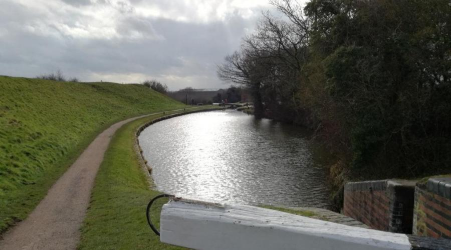Canal lock at Tardebigge