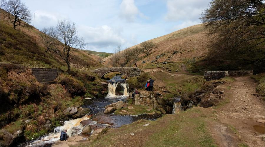 Panniers Pool at Three Shires Head