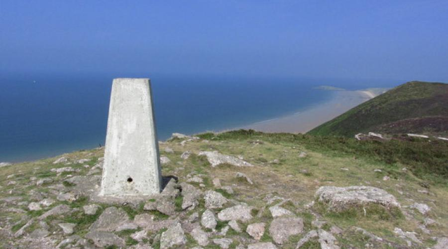Rhossili Down Trig Point (The Beacon)