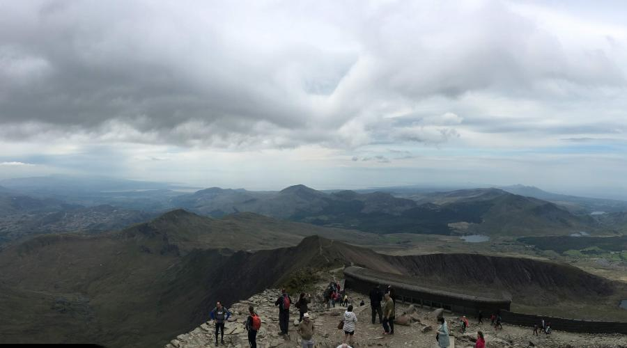 Snowdon summit and cafe