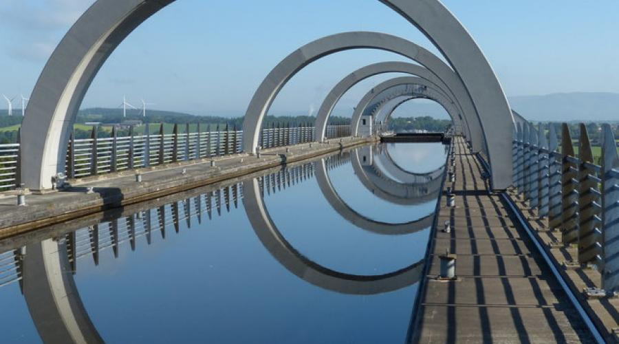 Union Canal at the Falkirk Wheel