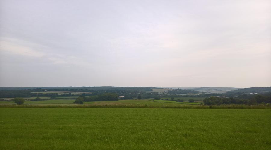 looking north into the heart of West Sussex