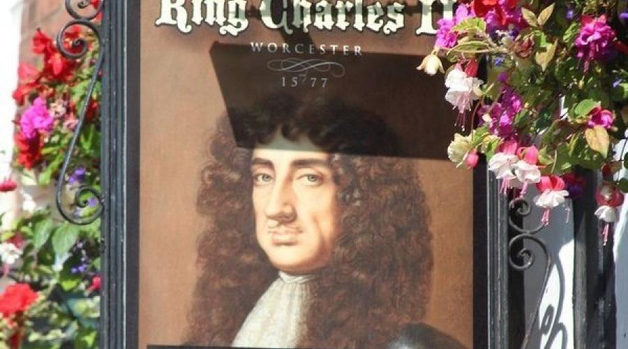 King Charles II pub sign, Worcester