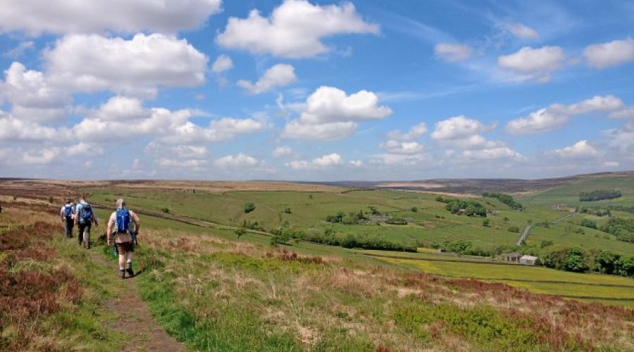 Hiking on the Moors above the Calder Valley