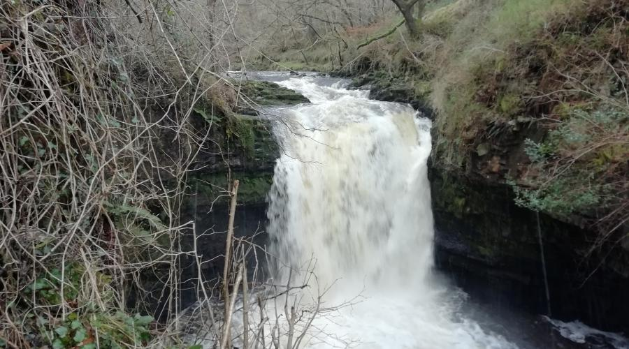 Welsh waterfall