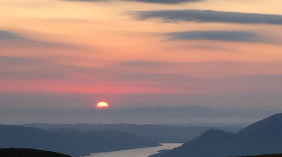 Sunset from Helvellyn, June 2018
