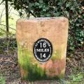 Milestone on the Worcester & Birmingham canal