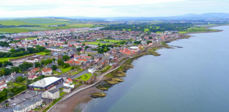 Aerial View of Prestonpans