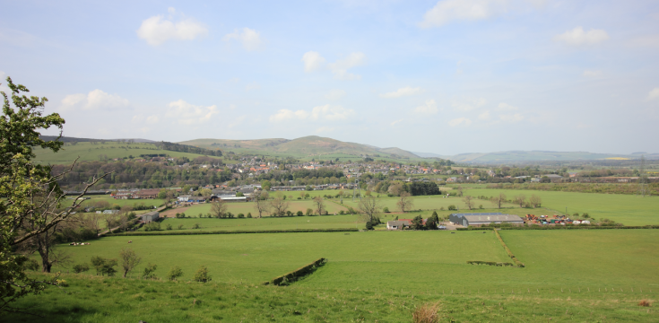 Wooler from Weetwood Bank