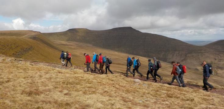 Pen-y-Fan behind group PFR