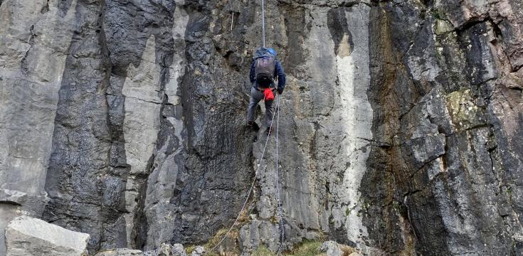 Abseiling in Baltic Quarry