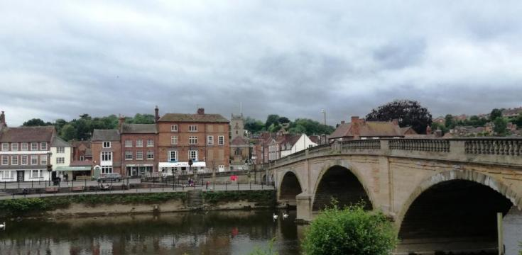 Bewdley bridge and town