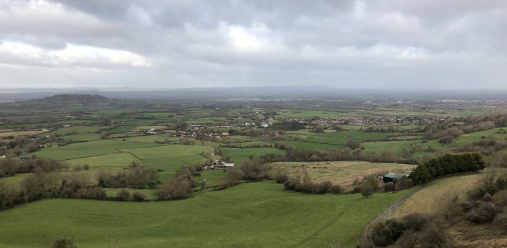 The view from the top of Crickley Hill