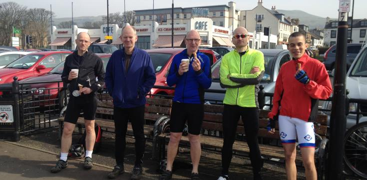 Cyclists at Largs Sea Front