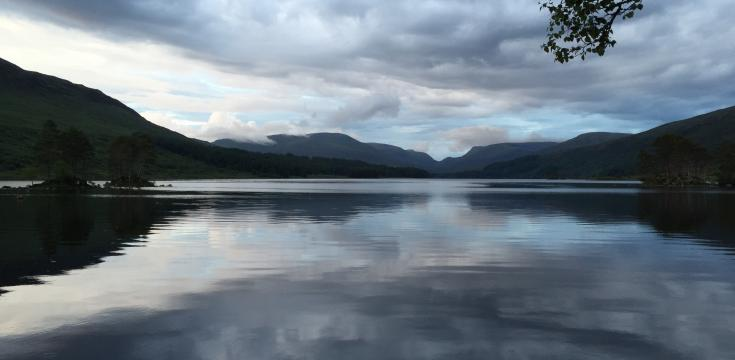 Evening light over Loch Ossian