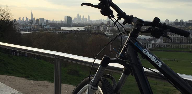 Bike at Greenwich Observatory