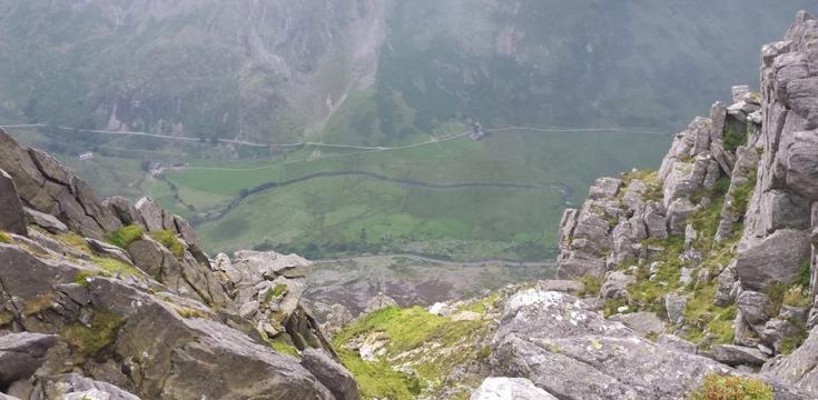 Nant Ffrancon from above