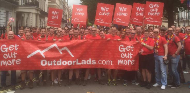 OutdoorLads ODL London Pride Parade
