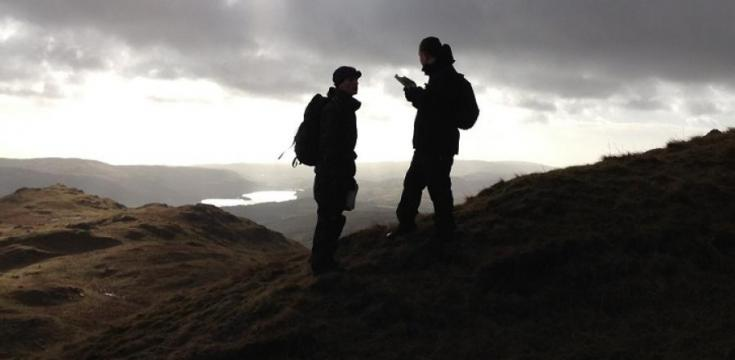 navigation training taking place at dusk