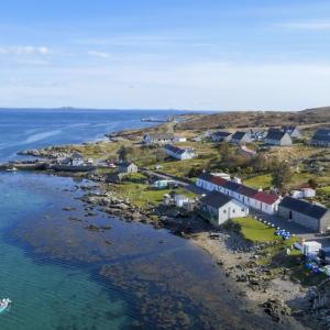 Arinagour, Isle of Coll from the air