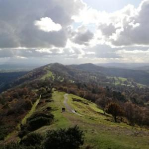 The ridge of the Malvern Hills
